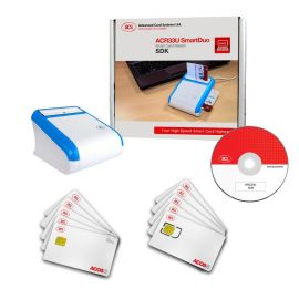ACS ACR33U SmartDuo SDK, Smart Card Reader, USB, White/Blue-SDK-ACR33U-A1