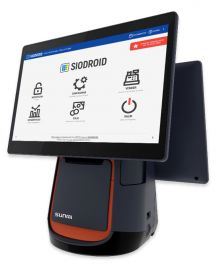 Sunmi T2 Mono, 38.1 cm (15.6''), Printer, Back display. Android, Siodroid, black-L1523-Siodroid